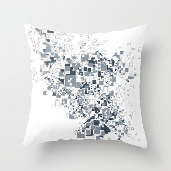 Broken and pixels  Throw Pillow