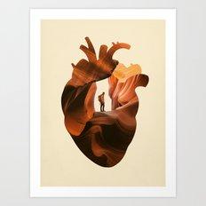 Heart Explorer Art Print
