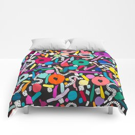 CIRCLES IN MOTION - colour bomb Comforters