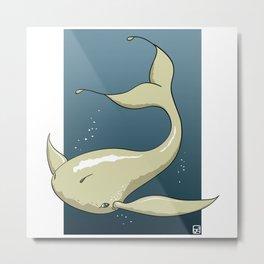 Alien White Whale Metal Print