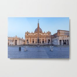 St. Peter's Square in Vatican City - Rome, Italy Metal Print