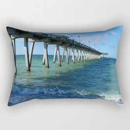 Fishing Pier on Venice Beach - Venice Florida Rectangular Pillow