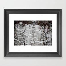 Ice Falls Framed Art Print