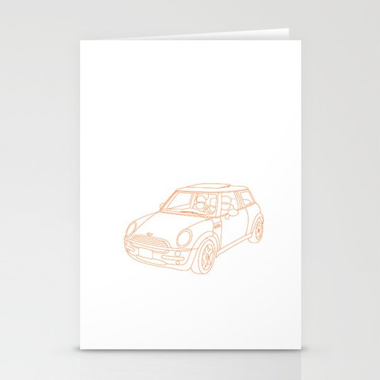 My Mini Cooper Stationery Cards