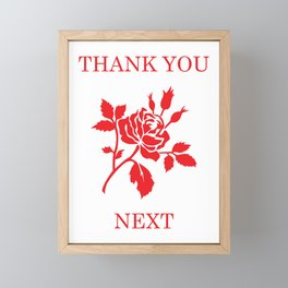 Thank you Framed Mini Art Print
