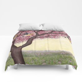 spring goldfinches Comforters