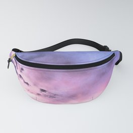 fly up to the blue pink sky Fanny Pack