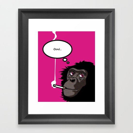 Pop Icon - Bonobo 2 Framed Art Print