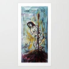 HERETIC BURNING Art Print