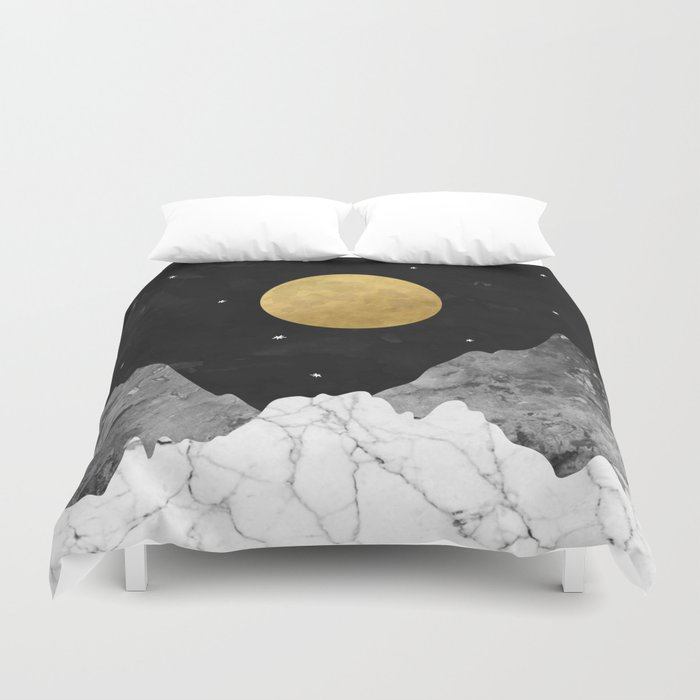 Moon and Stars Duvet Cover