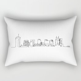 Nashville Skyline Drawing Rectangular Pillow
