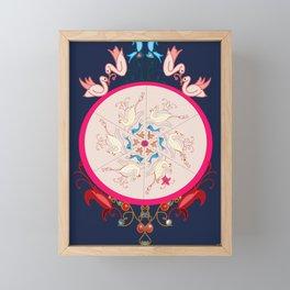 Life in blue Framed Mini Art Print