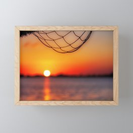 Sunset on the water, Cancun, Mexico Framed Mini Art Print
