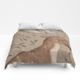 The Fallow Deer and Oats Comforters