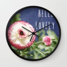 Hello Lovely Wall Clock