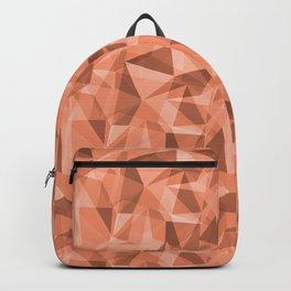 Abstract Geometrical Triangle Patterns 3 VA Fringe Orange - Orange Slice - Fiery Sky Orange - Heirlo Backpack