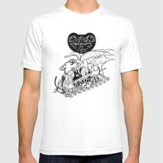 Steam Powered Bicycle SMALL White Mens Fitted Tee