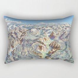Sky Panorama Map of Yosemite National Park Rectangular Pillow