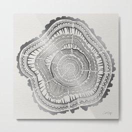 Growth Rings – 65 Years – Silver Metal Print