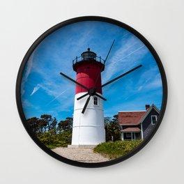 Nauset Lighthouse- Cape Cod, Massachusetts Wall Clock