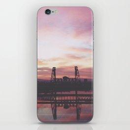 Steel Bridge Sunrise iPhone Skin
