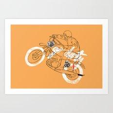 go dirty Art Print