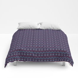 Blue And Red Knitted Christmas Decor Comforters