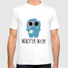 Monster Mash Mens Fitted Tee White SMALL