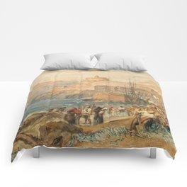 "J.M.W. Turner ""St. Mawes, Cornwall"" Comforters"