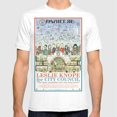 Leslie Knope for City Council - Parks and Recreation Dept. White MEDIUM Mens Fitted Tee