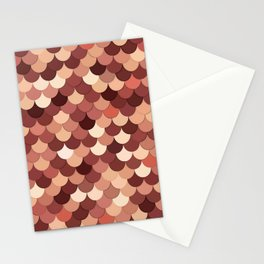 Mermaid Scales, Copper, Brown, Cream, and Tan Stationery Cards
