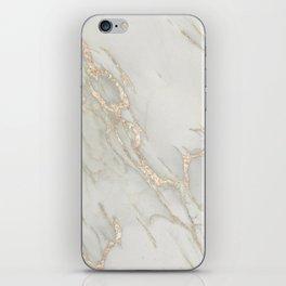 Marble Love Bronze Metallic iPhone Skin