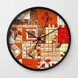 Medieval mosaic Wall Clock