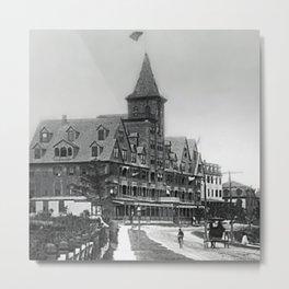 1885 Street View, Island of Jamestown, Rhode Island, Canonicus Ave. looking north at Thorndike Hotel Metal Print
