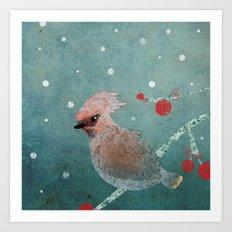 Tweet in the Snow Art Print