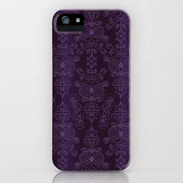 Elena, Yankees blue ornate iPhone Case