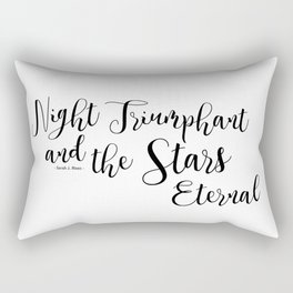 night triumphant and the stars eternal (acowar) Rectangular Pillow