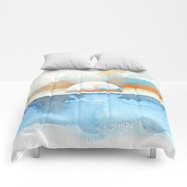 Orange Sea Drop Comforters