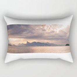 Heavens Burst over Christ the Redeemer Rectangular Pillow