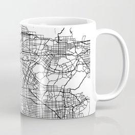 Los Angeles California Street Map Minimal Coffee Mug