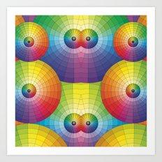 Rainbow Pretty Circles Color Wheel Awesome Thing Art Print