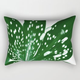 Lily Infrared In Green Rectangular Pillow
