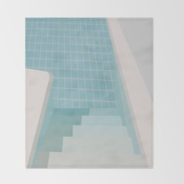 Swimming Pool Summer Throw Blanket