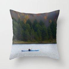 Kayak Time Throw Pillow