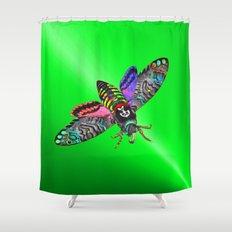 Goth Moth Shower Curtain