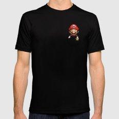 Pocket Mario Super Mario T-Shirt MEDIUM Mens Fitted Tee Black