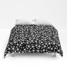 Hand Printed Black and White Stars Comforters