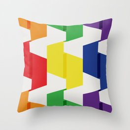Paper Fold Colors Large Throw Pillow