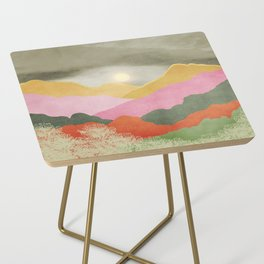 Colorful mountains Side Table