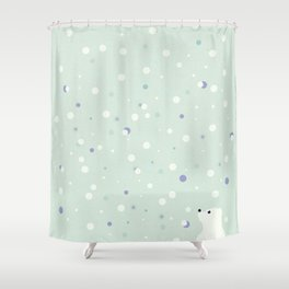 snowfall 3 Shower Curtain
